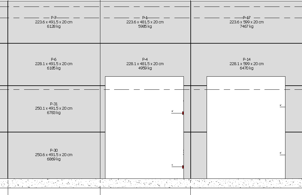 Scenario 1 – Calculate and tag the weight of precast panels